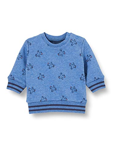 bellybutton Baby-Jungen Sweatshirt T-Shirt, Allover|Multicolored, 80