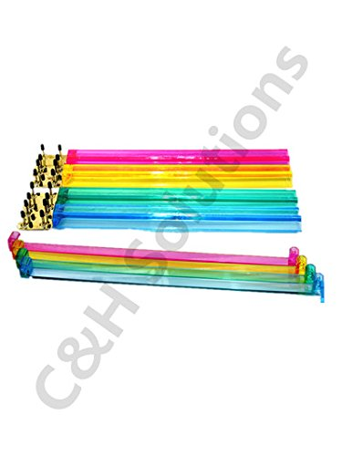 Color Acrylic Mahjong Pushers 18'' - Set of 4 and Color Acrylic Mahjong Racks 18'' - Set of 4 (Combo) by C&H Solutions