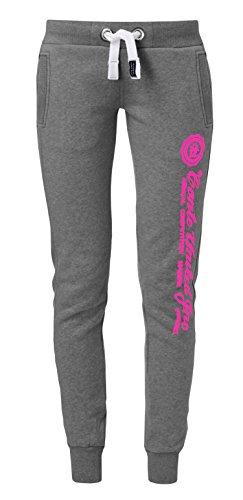 M Conte Pantaloni Donna Jogging Training Fitness Sport in 8 conbinazioni di Colori Tuta Sportiva da Ginnastica in Felpa Taglia S M L XL Grigio Pink M Ramona