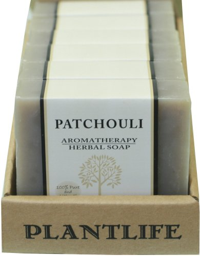 Plantlife Value 6 Pack-Patchouli 100% Pure & Natural Aromatherapy Herbal Soap - 4 oz each