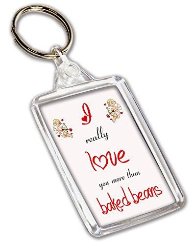 I Love cuits grains de café sur le thème – Porte-clé – Saint-Valentin/anniversaire/cadeau d'anniversaire pour elle ou Lui