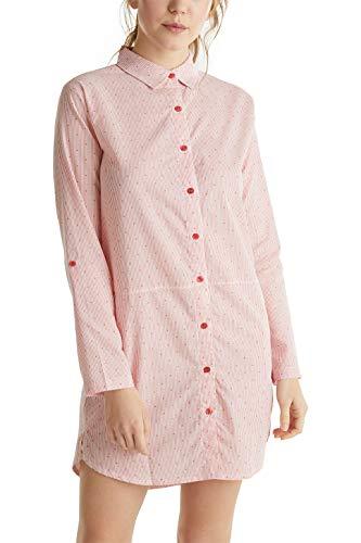 ESPRIT Web-Nachthemd aus 100% Baumwolle