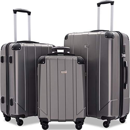 Merax Luggage Sets with TSA Locks, 3 Piece Lightweight...