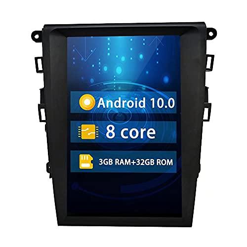 ROADYAKO Unidad Principal de 12,1 Pulgadas para Ford Mondeo 2013 2014 2015 2016 2017 Android 10,0 Car Stereo Radio Video Center Multimedia Auto Audio Navegación GPS WiFi RDS 4G