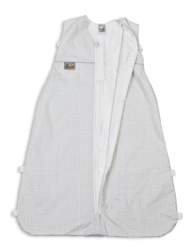 Aro Artländer 872500 Sommer Seiden-Schlafsack 130 cm, Vichy-Karo, grau
