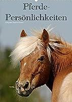 Pferde-Persoenlichkeiten - ausdrucksstarke Gesichter verschiedener Pferderassen (Wandkalender 2022 DIN A2 hoch): Besondere Rassepferde in unterschiedlichen Farben (Monatskalender, 14 Seiten )