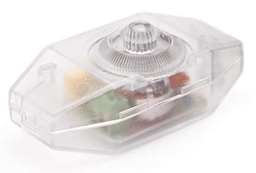 LED Dimmer (Dimmer Schnur), 1-60 Watt stufenlos dimmen, dimmbare LED, Glühlampen | Ein-Aus, 220-230V, Dimmschalter/Schnur-Zwischendimmer ab 1 Watt, Transparent, Geräuschlos, Buchenbusch Urban Design
