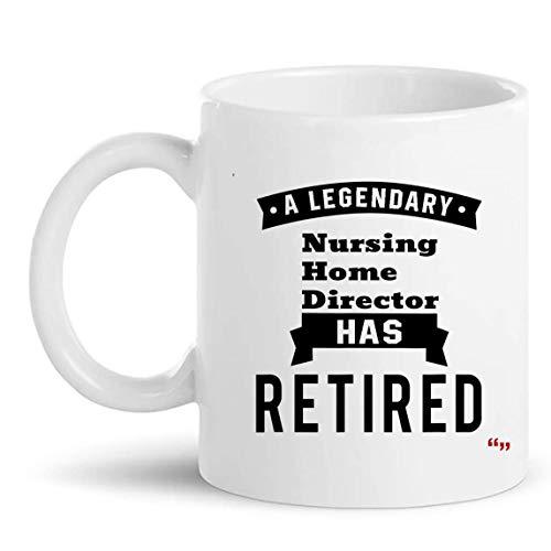 N\A Taza de Regalo para Director de hogar de Ancianos Jubilados Taza de 11 oz - Enfermera Asistente de médico Regalos de jubilación Tazas Tazas Regalo de jubilación para Abuela Abuelo