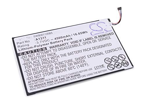 vhbw Li-Polymer Akku 4500mAh (3.7V) für Tablet Netbook Pad Acer A1-830 wie A1311.