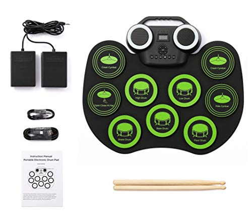 Why Should You Buy MAGICON Desktop Roll up Digital Portable Electronic Drum Pads with a carrying han...