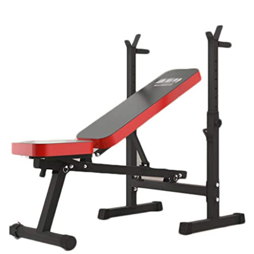 LZL Adjustable Weightlifting Bed/Weight-Lifting Bed/Weight-Lifting Machine Fitness Equipment/Multifunctiona Olympic Weight Benches/Strength Training Benches,for Home Office Gym (Color : Folding)