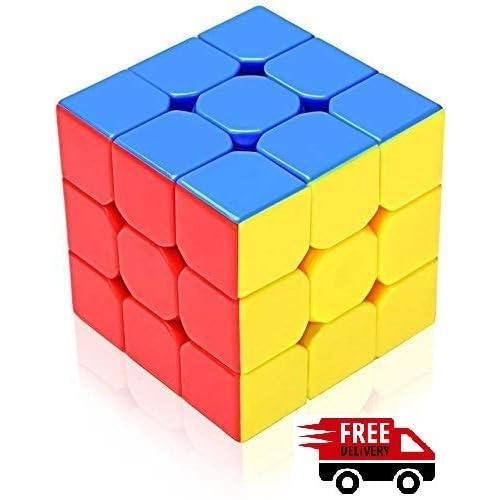 Toykart Premium Stickerless - 3X3X3 Speed Cube, Multi Color