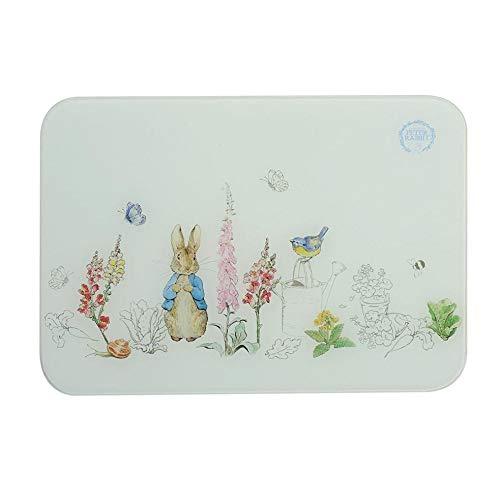 Con Licencia Oficial Peter Rabbit Potter de Beatrix Endurecido Calor Resistente Cristal para Picar Tabla de Cortar 16'X 12'