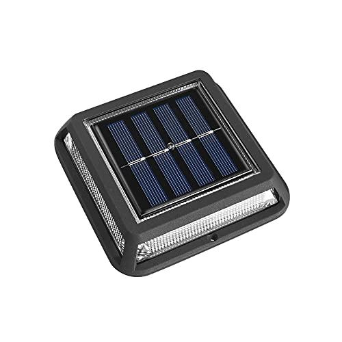 Porcyco Luces solares de suelo, IP65, impermeable, luz solar para escaleras o balcones, luz cálida