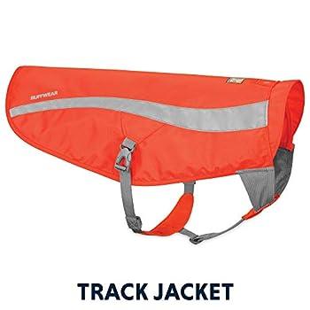 RUFFWEAR Gilet de sécurité pour Chien, Haute visibilité, Réfléchissant, Chiens de Chasse et de Travail, Chiens de Petite et Moyenne Taille, Taille: S/M, Orange (Blaze Orange), Track Jacket