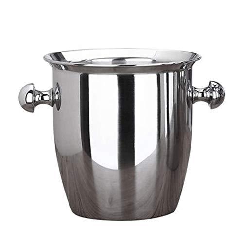 JYDQM Cubo de Hielo Engrosado de Acero Inoxidable - Cubo de Hielo para Enfriador de champán de Vino de 2L / 5L, contenedor de Cubos de Hielo de Alta Capacidad para Bar de Hotel KTVs (Size : 2L)