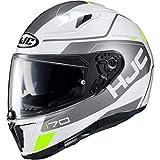 Die Nr. 1 auf Amazon - HJC Helmets Unisex– Erwachsene Nc Motorrad Helm, Weiss/Silber, L