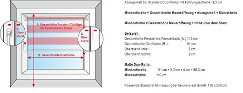 heicko e-ast GmbH Elektrisches Duo-Rollo - beige/braun - 60x160cm