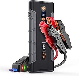 TACKLIFE T8 MAX Avviatore di Emergenza - 20000 mAh, 1000A Avviatore Batteria Auto per Motore Tutti i Gas e Diesel 6.5L, 12V Jump Starter, Torcia Elettrica a LED, Doppie Porte USB di Ricarica Rapida