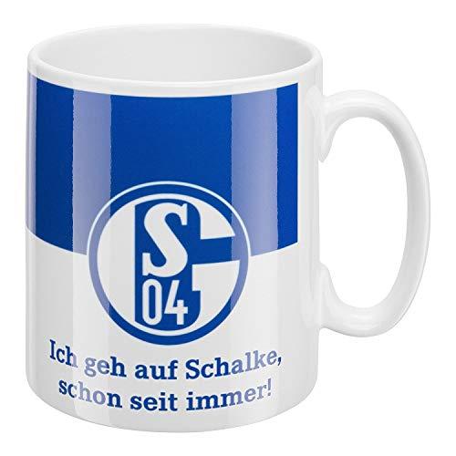 FC Schalke 04 Tasse - Ich GEH auf Schalke - Kaffeebecher, Mug S04 - Plus Lesezeichen I Love Gelsenkirchen