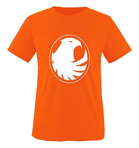 Comedy Shirts - Phönix Motiv - Herren T-Shirt - Orange/Weiss Gr. XXL