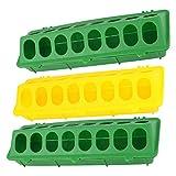 Hemoton 3 Pz Mangiatoia per Pollame Vassoio di Alimentazione in Plastica con Fori Base Contenitore per Dispenser di Cibo...