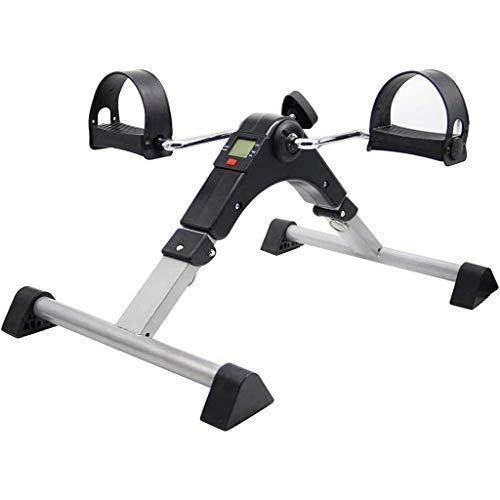 ZXL Faltbares Mini-Fitness-Fahrrad Pedal Exerciser für die oberen und unteren Gliedmaßen mit LED-Anzeige, Indoor-Beintrainer für das Rehabilitationstraining für ältere Menschen und arbeitende Me