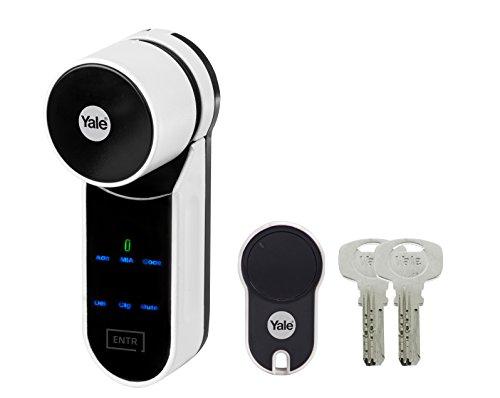 Yale Kit ENTR - Serrure connectée ENTR 31x40 - Ouverture Automatique de la Porte via Télécommande, Code, Empreinte Digitale, Smartphone (compatible iOS/Android)