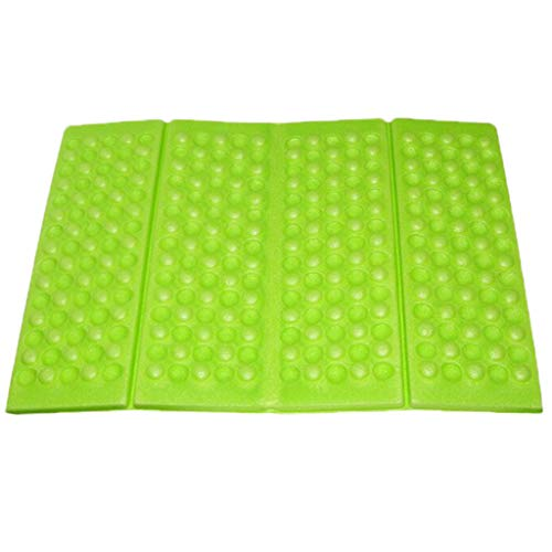 Fine Portable Lightweight Mini Waterproof Folding Mat, Foam Sitting Pad for Outdoor Activities, Foldable Seat Cushion for Comfort, Camping Backpacking Stadium Outdoor (Green)