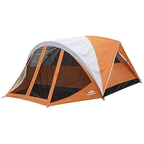AsterOutdoor 6 Person Dome Tent Screen Room Water Resistance Portable Tent with Rain Fly Screen Porch & Awning for Camping Hiking Easy Setup, Carry Bag Included