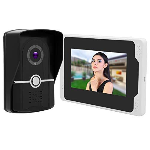 Videoportero, Timbre de Puerta WiFi, Brillo Impermeable 7in 1080P con Puerta a Prueba de Polvo para Seguridad(European regulations)