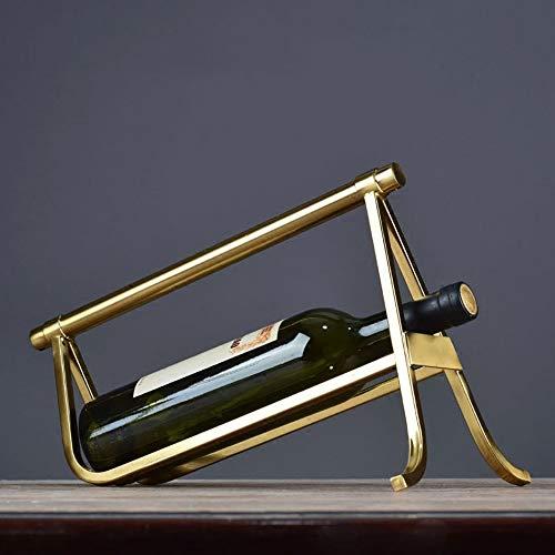 KK Zachary Modernes Weinregal Kreativer Schmuck Wohnaccessoires Minimalistische Wohnzimmer Eingang Flaschengestell Weinkühler Dekorationen (34 * 20 * 24cm)