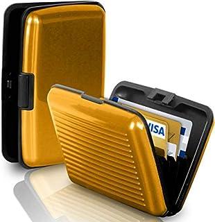 Gold Color Waterproof Business ID Credit Card Wallet Holder Aluminum Metal Pocket Case Box