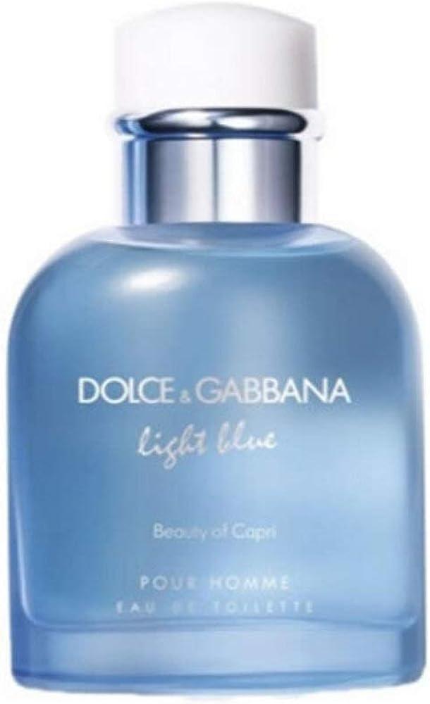 Dolce & gabbana light blue beauty of capri eau de toilette pour homme vaporizador - 125 ml 1289