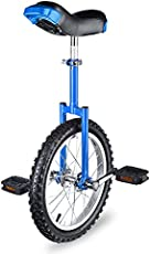 """AW 16"""" Inch Wheel Unicycle Leakproof Butyl Tire Wheel Cycling Outdoor Sports Fitness Exercise Health Blue"""