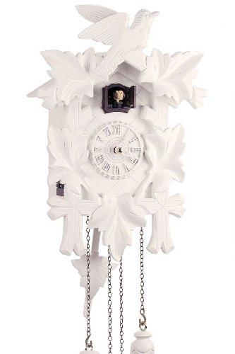 Reloj De Cuco cuarzo pájaro/5hojas blanco de Trenkle
