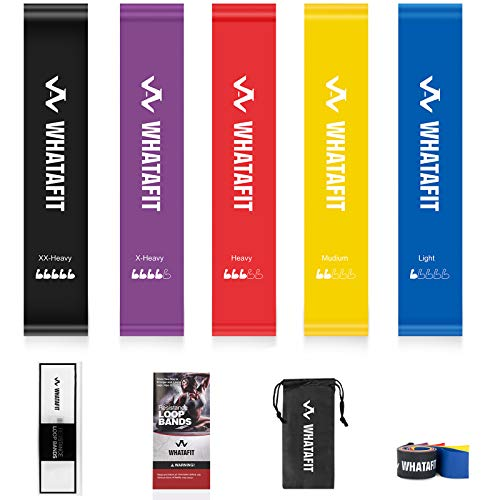 Whatafit Mini Resistance Loop Bands -Set of 5 Now $9.79 (Was $13.99)
