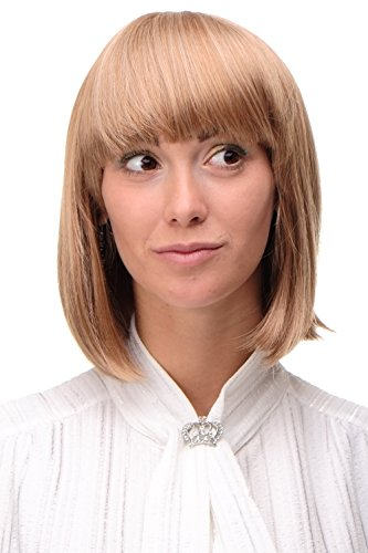 WIG ME UP - Perruque sexy carré mélange de blond fraise et blond platine lisse femme 25 cm 7803-27T613