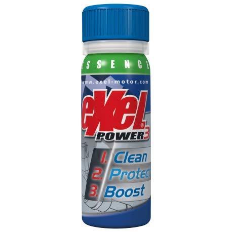 Exel Motor® - Exel Power3® préventif - Essence - nettoyant Voiture - décalaminant injecteurs et soupapes pour véhicule Essence - Traitement Moteur - additif Essence