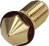 Brozzl Ultimaker 3 (AA) Boquilla de latón 0,4 mm de diámetro para...