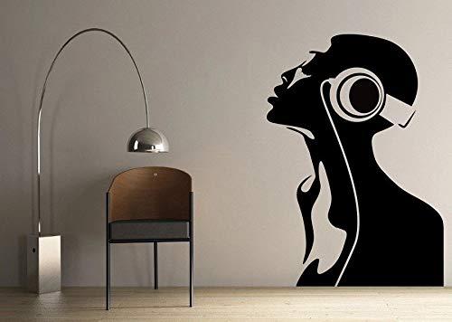 LKJHGU Autoadesivo Femminile della Parete della Decorazione di Disegno di Arte Decorativa dell'ufficio