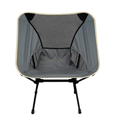 FGGTMO Chaise Pliante Camping, Highlander Pliant Camp Chaise, chaises Ultraléger Compact Pliant baladants, idéal for l'extérieur, Camp, Pique-Nique, randonnée pédestre, pêche (Color : A)
