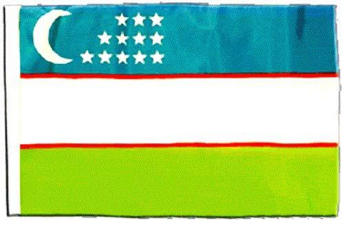 FlagSuperstore© Usbekistan Bootsflagge 45,7 x 30,5 cm – Baumhäuser, Wohnwagen – Ärmel 45 cm x 30 cm – Land