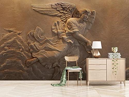 Murais personalizados papel de parede para sala de estar, quarto e TV plano de fundo, decoração de casa, alívio do personagem mitologia anjo 250 cm x 175 cm