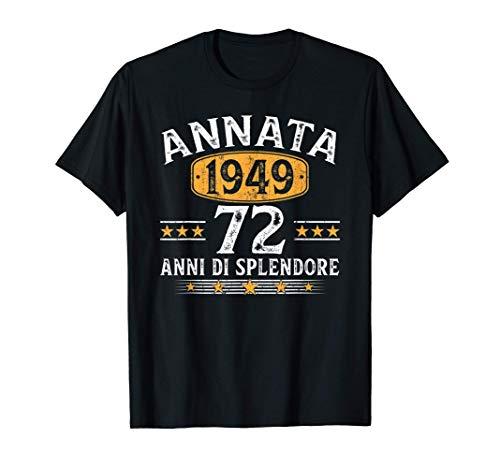 Annata 1949 Vintage 1949 72 Anni Di Compleanno Uomo Donna Maglietta