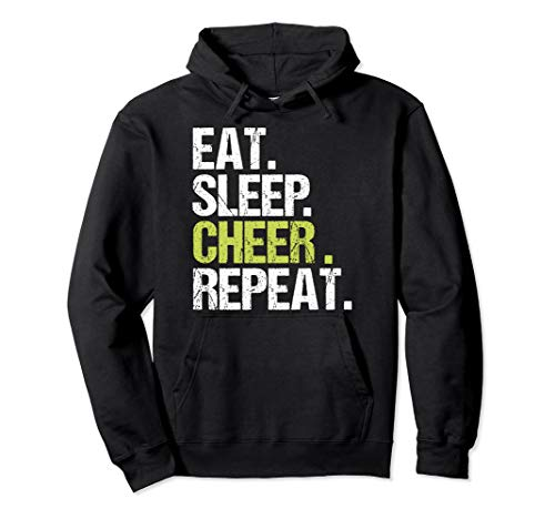 Eat Sleep Cheer Repeat Cheerleader Christmas Gift Pullover Hoodie