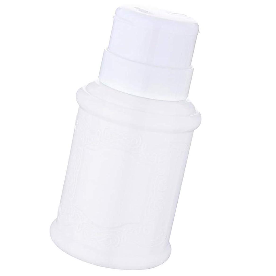 北方錆びハングSM SunniMix 空ポンプ ボトル ネイルクリーナーボトル ポンプディスペンサー ジェルクリーナー 全3色 - 白