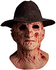 Full Head Deluxe Latex Mask High Quality Replica Includes Replica Fedora Hat Sculpted by Justin Mabry Officially Licensed