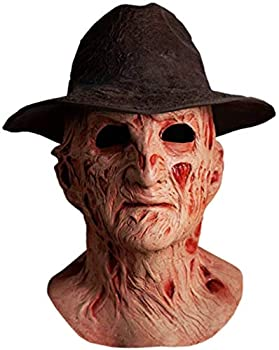 Trick or Treat Studios A Nightmare On Elm Street 4 The Dream Master Deluxe Freddy Krueger Mask With Fedora Hat