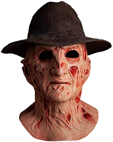 DELUXE%2bFREDDY%2bMASK%2bWITH%2bHAT